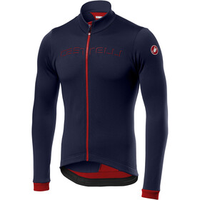 Castelli Fondo Full-Zip LS Jersey Men savile blue/red